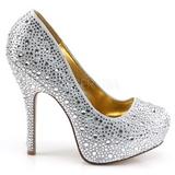 Zilver Glinsterende Steentjes 13,5 cm FELICITY-20 damesschoenen met hak