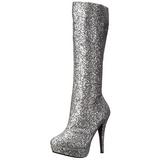 Zilver Glitter 13 cm LOLITA-300G Plateau Dames Laarzen