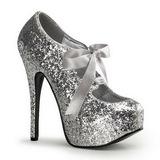 Zilver Glitter 14,5 cm Burlesque TEEZE-10G Platform Pumps Schoenen