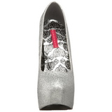 Zilver Glitter 14,5 cm TEEZE-31G Platform Pumps Schoenen