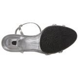 Zilver Glitter 8 cm BELLE-316 Dames Sandalen met Hak