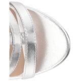 Zilver Kunstleer 10 cm DREAM-438 grote maten enkellaarzen dames