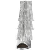 Zilver Kunstleer 10 cm QUEEN-100 grote maten enkellaarzen dames