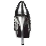 Zilver Kunstleer 13,5 cm PIXIE-18 Gothic Pumps Schoenen