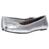 Zilver Kunstleer ANNA-01 grote maten ballerina´s schoenen
