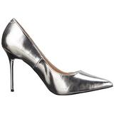 Zilver Mat 10 cm CLASSIQUE-20 Pumps Schoenen met Naaldhakken