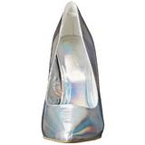 Zilver Mat 13 cm AMUSE-20 naaldhak pumps met puntneus
