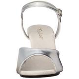 Zilver Mat 8 cm BELLE-309 Hoge Hakken voor Mannen