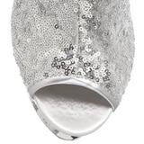Zilver Pailletten 15,5 cm BLONDIE-R-1008 Hoge Enkellaarzen