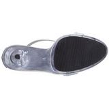 Zilver Satijn 13 cm LIP-156 Dames Sandalen met Hak