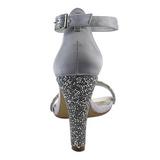 Zilver Strass 11,5 cm CLEARLY-436 Hoge Avond Sandalen met Hak