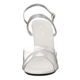 Zilver Transparant 10 cm Pleaser CARESS-439 Hoge Hakken