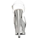 Zilver Transparant 18 cm MOON-708DMCH Plateau Hoge Hakken