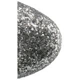 Zilver glitter 18 cm ADORE-1020G dames enkellaarsjes met plateauzool