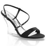 Zwart 10,5 cm LOVELY-417 Hoge Sandalen met Sleehakken