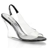Zwart 10,5 cm LOVELY-450 Hoge Sandalen met Sleehakken