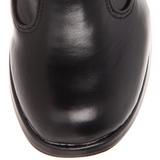 Zwart 10 cm CRYPTO-106 plateau laarzen dames met gespen