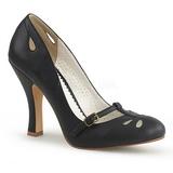 Zwart 10 cm SMITTEN-20 Pinup pumps schoenen met lage hakken