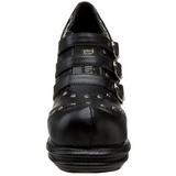 Zwart 10 cm VAMPIRE-08 lolita damesschoenen met plateauzolen