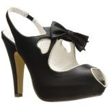 Zwart 11,5 cm BETTIE-03 Pinup pumps schoenen met verborgen plateauzool