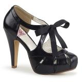 Zwart 11,5 cm BETTIE-19 damesschoenen met hoge hak