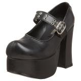 Zwart 11,5 cm CHARADE-05 lolita damesschoenen met plateauzolen