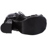 Zwart 11,5 cm CHARADE-206 lolita laarzen gothic met dikke zolen