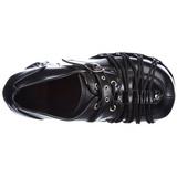 Zwart 11,5 cm CHARADE-35 lolita damesschoenen met plateauzolen