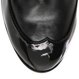 Zwart 11,5 cm COP-911 dames enkellaarsjes met plateauzool