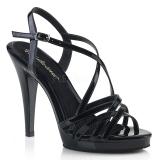 Zwart 11,5 cm FLAIR-413 Fabulicious Sandalen met Hoge Hak