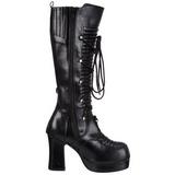 Zwart 11,5 cm GOTHIKA-200 lolita laarzen gothic met dikke zolen