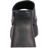 Zwart 11,5 cm PACE-01 Plateau Gothic Slippers Dames