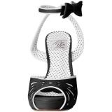 Zwart 11,5 cm Pinup BETTIE-01 sandalen met naaldhak