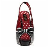 Zwart 11,5 cm retro vintage BETTIE-05 damesschoenen met hoge hak