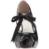 Zwart 11,5 cm retro vintage BETTIE-19 damesschoenen met hoge hak