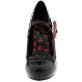 Zwart 11,5 cm retro vintage CUTIEPIE-10 damesschoenen met hoge hak