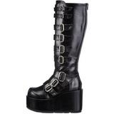 Zwart 11 cm CONCORD-108 lolita laarzen gothic met dikke zolen