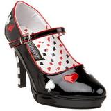 Zwart 11 cm CONTESSA-57 damesschoenen met hoge hak