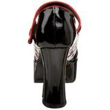 Zwart 11 cm QUEEN-55 damesschoenen met hoge hak