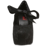 Zwart 13 cm DEMON-11 lolita damesschoenen met plateauzolen