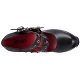 Zwart 13 cm DEMON-16 lolita damesschoenen met plateauzolen