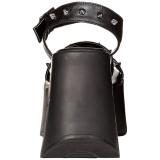 Zwart 13 cm Demonia DYNAMITE-02 lolita sandalen wedge sandalen sleehak