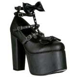 Zwart 14 cm DEMONIA TORMENT-600 gothic plateau schoenen