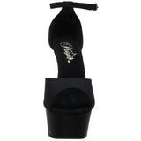 Zwart 15 cm DELIGHT-618PS damesschoenen met hoge hak