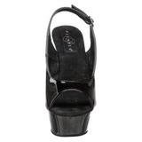Zwart 15 cm DELIGHT-654 damesschoenen met hoge hak