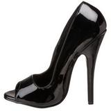 Zwart 15 cm DOMINA-212 damesschoenen met hoge hak