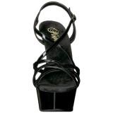 Zwart 15 cm Pleaser DELIGHT-613 Sandalen met hoge hakken