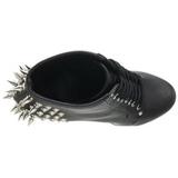 Zwart 18 cm FEARLESS-700-28 dames enkellaarsjes met plateauzool