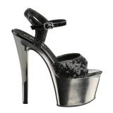 Zwart 18 cm Pleaser SKY-310SQ Pailletten schoenen met hakken