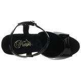 Zwart 18 cm REVOLVER-709 sandalen met revolver hakken